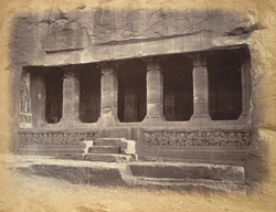General view of the entrance to the Vaishnava Sanctuary (Cave II), Badami, Bijapur District